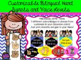 Bilingual Hand Signals & Voice Level (7 colors: Melonheadz & Glitter Theme)