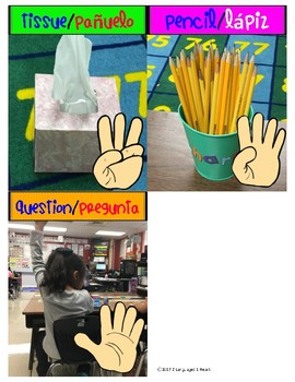 Bilingual Hand Signals for the Classroom