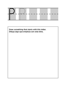 Bilingual Handwriting Letter Formation Packet