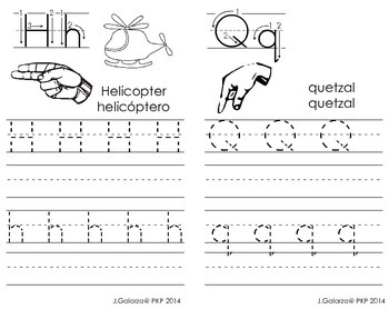 Bilingual Handwriting Practice Book & ASL!