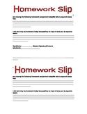Bilingual Homework Slip