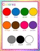 Bilingual Illustrated Posters: Colors, Numbers, and Shapes