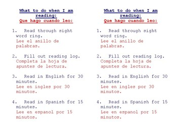 Bilingual Independent Reading Guide for Newcomer ELLs