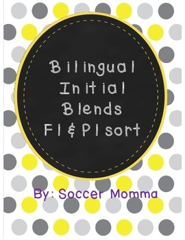 Bilingual Initial Blends Fl & Pl sort