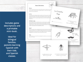 Bilingual Insect Game Pack: Bingo, Memory, Mini-Book, and More!