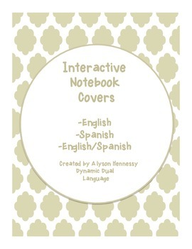 Bilingual Interactive Notebook Covers FREEBIE