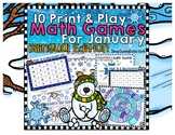 Bilingual January Math Games {English and Spanish)