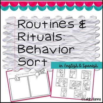 Routines & Rituals: Behavior Sort (English & Spanish)