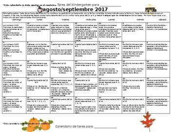 Bilingual Kindergarten Homework for Notebooks