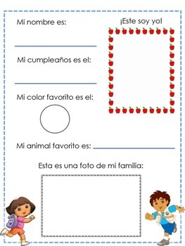 Bilingual Kindergarten Interest Inventory (For Parents and Children)