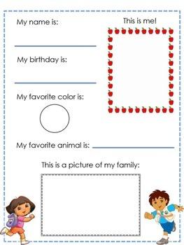 Bilingual Kindergarten Interest Inventory (For Parents and