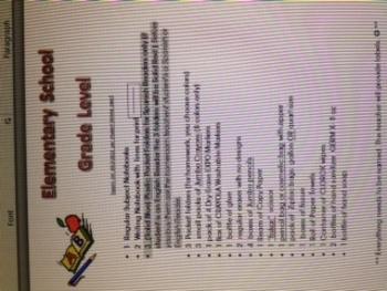 Bilingual Kindergarten Supplies List (For a complete year)