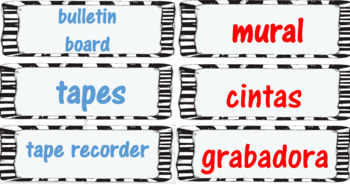 Bilingual Labels for the Classroom