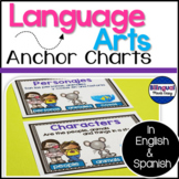 Bilingual Language Arts Anchor Chart Posters/ English & Spanish
