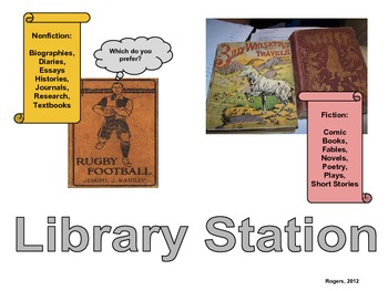 K-5 Literacy Center Signs: English and Spanish