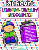Bilingual Lending Library Resources with Editable student characters