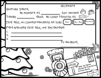 Bilingual Letter To Santa