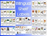 Bilingual Library Shelf Labels (English and Spanish)