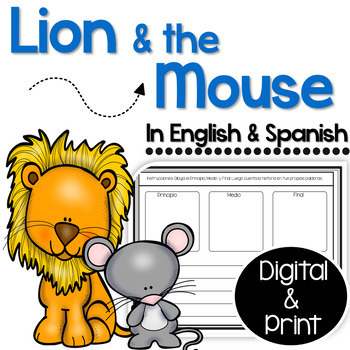 Bilingual Lion and the Mouse in English and Spanish