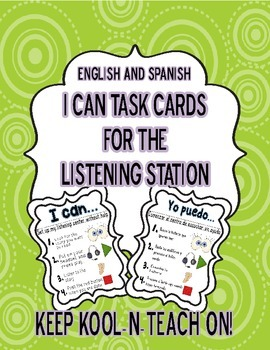 Bilingual Listening I can task cards