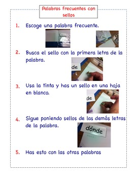 Bilingual Literacy Station Instructions