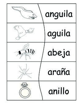 Bilingual Literacy Station Puzzles! Reading Words in Spanish B&W {Level 2}