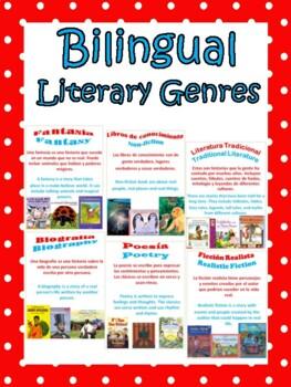 Bilingual Literary Genre Posters - Generos Literarios