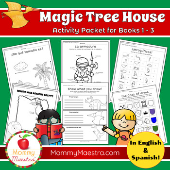 Bilingual Magic Tree House Activities for Books 1 - 3