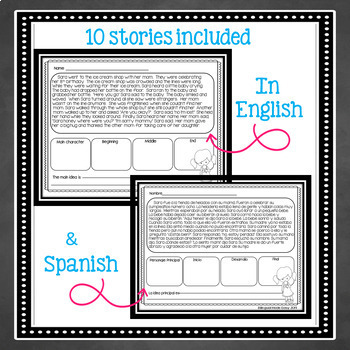 Bilingual Main Idea Unit in English & Spanish