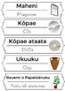 Bilingual Maori-English classroom labels