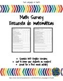 Bilingual Math Attitude Survey