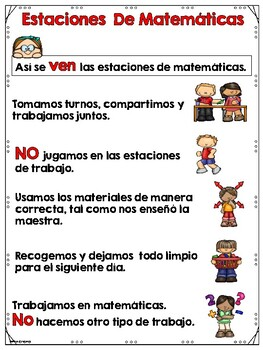 Bilingual Math Expectations Posters