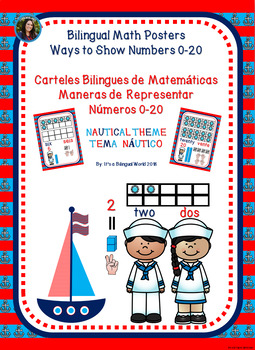 Ways to Show Numbers 0-20 Bilingual Math Posters Nautical-Theme