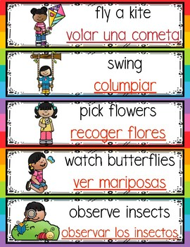 Bilingual May Monthly Words