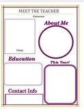 Bilingual - Meet the Teacher Flyers editable
