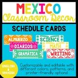 Bilingual Mexico Schedule Cards