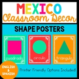 Bilingual Mexico Shape Posters
