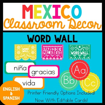 Bilingual Mexico Word Wall