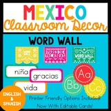 Bilingual Mexico Word Wall
