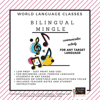 Bilingual Mingle - Greetings Practice for Spanish or Any Foreign Language Class