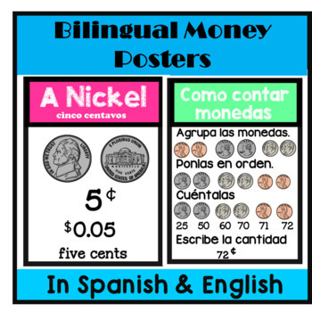 Bilingual Money Posters in English & Spanish