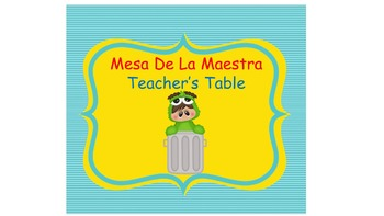 Bilingual Monster Street Classroom Helper Welcome Banner And Tables Signs