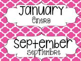 Bilingual Monthly Calendar Headers