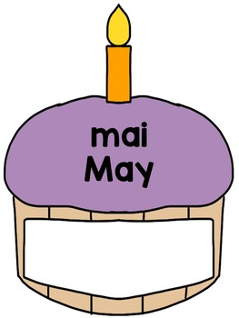 Bilingual birthday posters - French and English