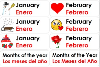 Bilingual Months of the Year