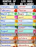 Bilingual Months of the Year/Les Mois de L'Année Poster – French and English