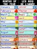 Bilingual Months of the Year/Les Mois de L'Année Poster –