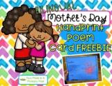 Bilingual Mother's Day Handprint Poem card Freebie