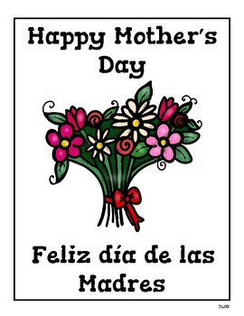 Bilingual Mother's day packet / Paquete bilingüe del día de la Madre.
