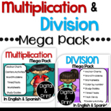 Bilingual Multiplication and Division Mega Packs Bundle in